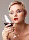 Vin rouge et languettes rouges photo libre de droits