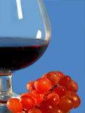 Vin rouge et raisin Photographie stock