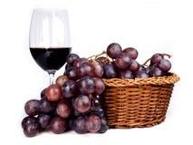 Vin rouge et raisins Photographie stock libre de droits