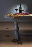 Vin rouge et raisins Image libre de droits