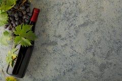 Vin rouge et raisins frais photographie stock