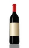 Vin rouge et une bouteille Photo libre de droits