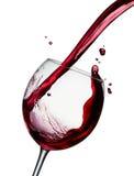 Vin rouge pleuvant à torrents Image libre de droits