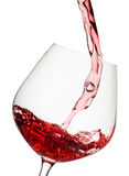 vin rouge plu à torrents par glace Photographie stock
