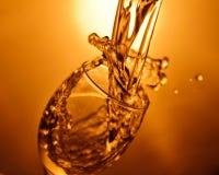 Vin som spiller ut ur exponeringsglas royaltyfri bild