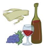 Vin – vektorillustration Royaltyfria Bilder