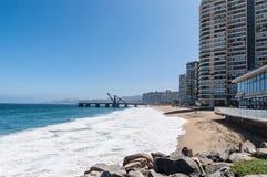 Vina del Mar在智利 免版税库存图片