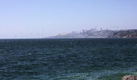 Vina del Mar - beira-mar - o Chile - I - fotos de stock royalty free