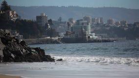 Vina del Mar, Chile. Avenida Marina in Vina del Mar, Chile stock footage