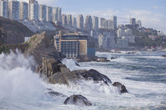 Vina del Mar, Chile. Coast of Vina del Mar during a swell. Chile royalty free stock photography