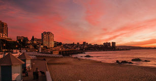 Vina del Mar Chile. Sunset in Vina del Mar chile Stock Images