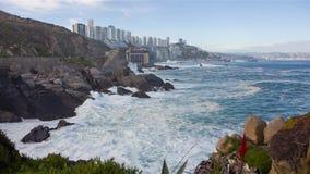 vina mar del Чили сток-видео