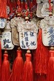 Vina platta (Ema) med kinesiska dekorativa fnuren Arkivbild