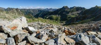 Vinadio, percorso nelle montagne delle alpi marittime Fotografie Stock Libere da Diritti