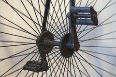 Vinage bike hub. Pedals and hub on a vintage bicycle Stock Image