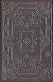 Vinage black leather book or journal cover. Black leather book or journal cover with a decorative floral ornament Stock Image