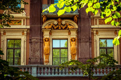 Vinage facade of old building. Some old building of Sankt-Petersburg Royalty Free Stock Photos