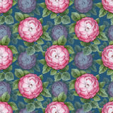 Vinage floral seamless pattern Stock Photos