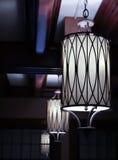Vinage hängande lampor Royaltyfria Bilder