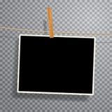 Vinage photo on rope Stock Photo