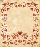 Vinage valentines day card Royalty Free Stock Image