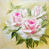 Vinage white pink roses. Stock Photography