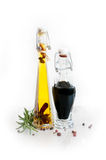 vinagre e óleo Imagens de Stock