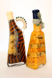 Vinagre y aceite de oliva Foto de archivo libre de regalías
