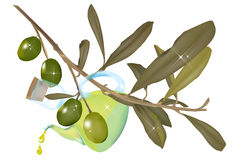 Vinagrera del aceite de oliva Foto de archivo libre de regalías