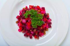 Vinagrette - салат с кипеть овощами суп русского кухни крупного плана borscht Стоковое Фото