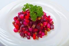 Vinagrette - салат с кипеть овощами vinaigrette суп русского кухни крупного плана borscht Стоковая Фотография