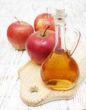 Vinaigre de cidre d'Apple Photo stock