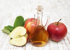 Vinaigre de cidre d'Apple Photos stock