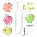 Vinaigre de cidre d'Apple illustration stock