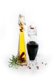 vinaigre et pétrole Images stock