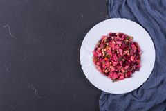 Vinaigrette σαλάτας παντζαριών στοκ φωτογραφία