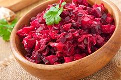 Vinaigrette de salade de betterave images stock