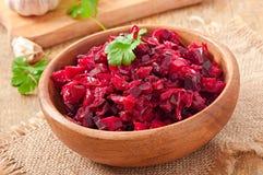 Vinaigrette dell'insalata della barbabietola Fotografia Stock