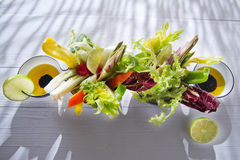 Vinaigrette with mixed vegetables Stock Photo