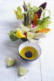Vinaigrette with mixed vegetables Stock Photography
