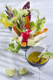 Vinaigrette with mixed vegetables Stock Photos
