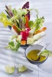 Vinaigrette with mixed vegetables Stock Photos