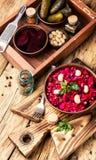 Vinaigrette russe de salade image libre de droits