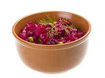 Vinaigrette Russian beetroot salad Royalty Free Stock Images