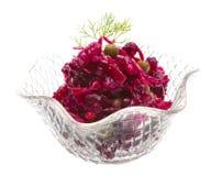 Vinaigrette Russian beetroot salad Stock Image