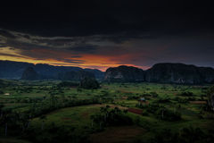 Vinales. Pittoresk view of Vinales in the west of Cuba - coffee and tobaco plantage Royalty Free Stock Photo