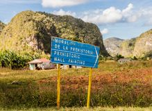 A typical view in Vinales in Cuba royalty free stock photography