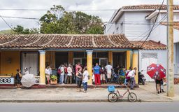 Local cake shop in Vinales, UNESCO, Pinar del Rio Province, Cuba, West Indies, Caribbean, Central America royalty free stock photography