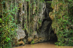 Vinales indian cave. Outside of the indian cave in Vinales royalty free stock images