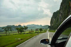 Vinales road, Cuba. Road to Vinales, from the car royalty free stock photography